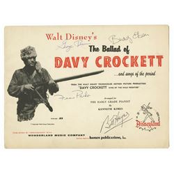 """The Ballad of Davy Crockett"" Multi-Signed Song Book."