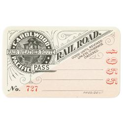 1955 Carolwood Pacific Railroad Pass.