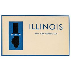World's Fair Illinois Pavilion Guest Badge.