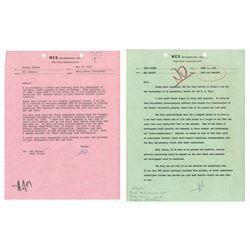 Walt Disney Hand-Written US Navy Project Rejection.