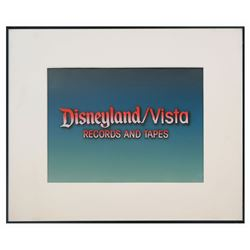 Disneyland/Vista Records Title Cel.
