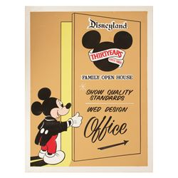 WED Imagineering Family Open House Sign.