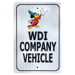Walt Disney Imagineering Company Vehicle Parking Sign.