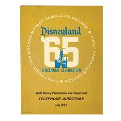 1965 Disneyland Telephone Directory.