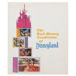 """The Walt Disney Traditions at Disneyland"" Booklet."