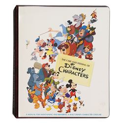 """""""The Care and Feeding of Disney Characters"""" Binder."""