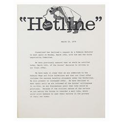 """""""Hotline"""" News Bulletin Regarding Union Strike."""