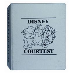 Disney Courtesy Management Training Binder.