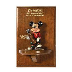 Disneyland Management Golf Tournament Award.