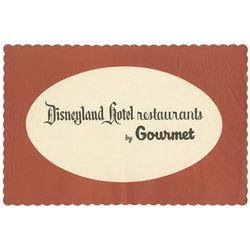 Disneyland Hotel Restaurant by Gourmet Placemat.