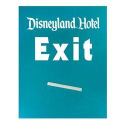 Disneyland Hotel Exit Sign.