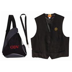 Disneyland Hotel Cast Member Vest & Bag.