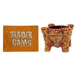 """Trader Sam's Menu and """"UH OA"""" Mug."""