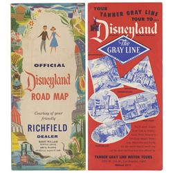 Pair of Early Disneyland Travel Brochures.