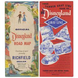 Pair of Early Disneyland Travel Brochures.