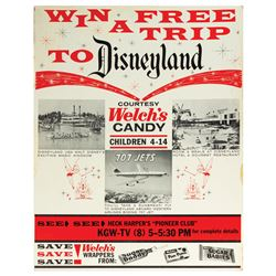 Welch's Disneyland Contest Poster.