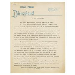 News From Disneyland Press Release.