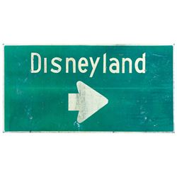Disneyland Directional Freeway Sign.