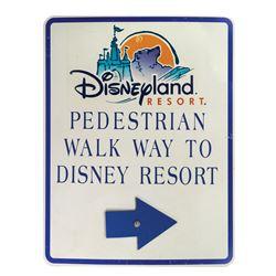 Disneyland Resort Walk Way Sign.