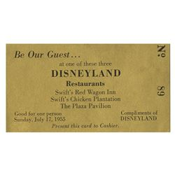 Disneyland Gold Food Ticket.