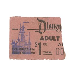 Opening Year Adult Admission Ticket Stub.