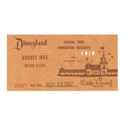 Disneyland Special Pass Admission Ticket.