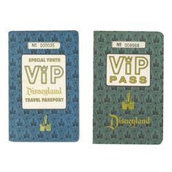 Pair of Disneyland Sample VIP Travel Passports.