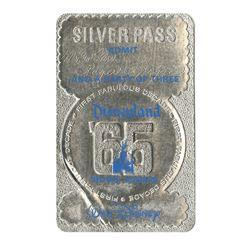 Roger Broggie's Disneyland Tencennial Silver Pass.