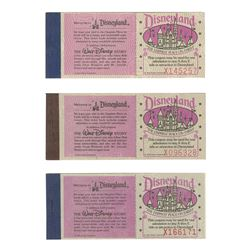 Set of (3) Adventures in Disneyland Ticket Books.