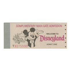 Complimentary Main Gate Admission Ticket Book.