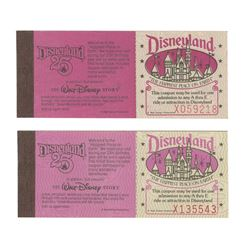 Pair of 25th Anniversary Courtesy Guest Ticket Books.