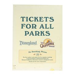 Disneyland Resort Ticket Booth Sign.