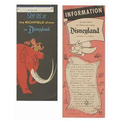 Pair of WED File Copies for Disneyland Flyers.