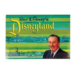 Walt Disney's Guide to Disneyland Booklet.