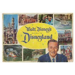 Walt Disney Signed 1960 Disneyland Guidebook.