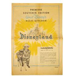 Premiere Edition Disneyland Newspaper Supplement.