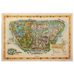 1958-A Disneyland Map Signed by Sam McKim.
