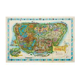 1962 Disneyland Souvenir Map Signed by Bob Gurr.