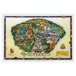 2005 Disneyland Souvenir Map Imagineer Edition.