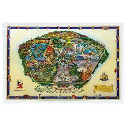 2005 Disneyland Souvenir Map Imagineer Edition.