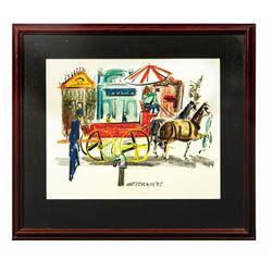 Original Walt Peregoy Main Street Painting.