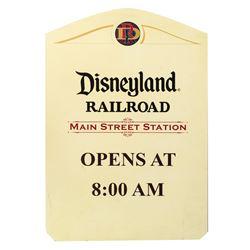 Disneyland Railroad Main Street Station Sign.