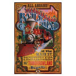 Disneyland Railroad Disney Gallery Attraction Poster.