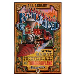 Disneyland Railroad Disney Gallery Attraction Poster.