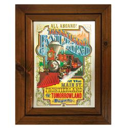 Disneyland Railroad Attraction Poster Mirror.