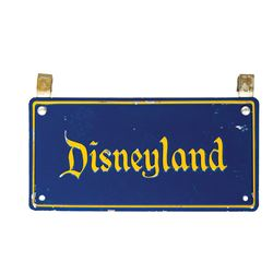 Park-Used Disneyland License Plate.