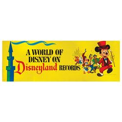 A World of Disney on Disneyland Records Sign.