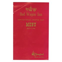 Red Wagon International Prevue Day Menu.