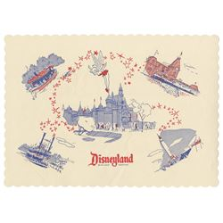 Disneyland Lands Placemat.
