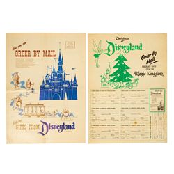 Pair of 1955 Disneyland Mail Order Souvenir Catalogs.